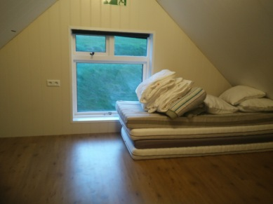 Vik hostel, upstairs sleeping area
